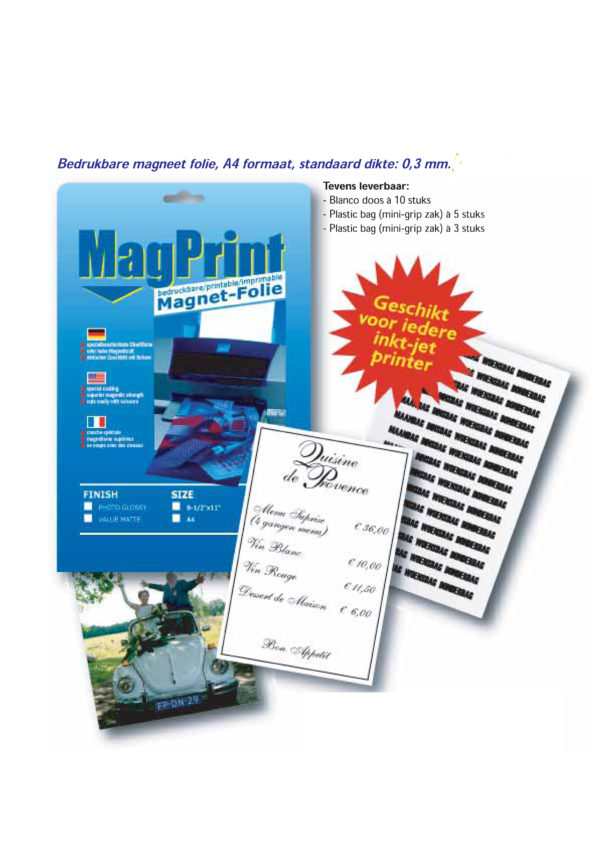 magnetisch printpapier